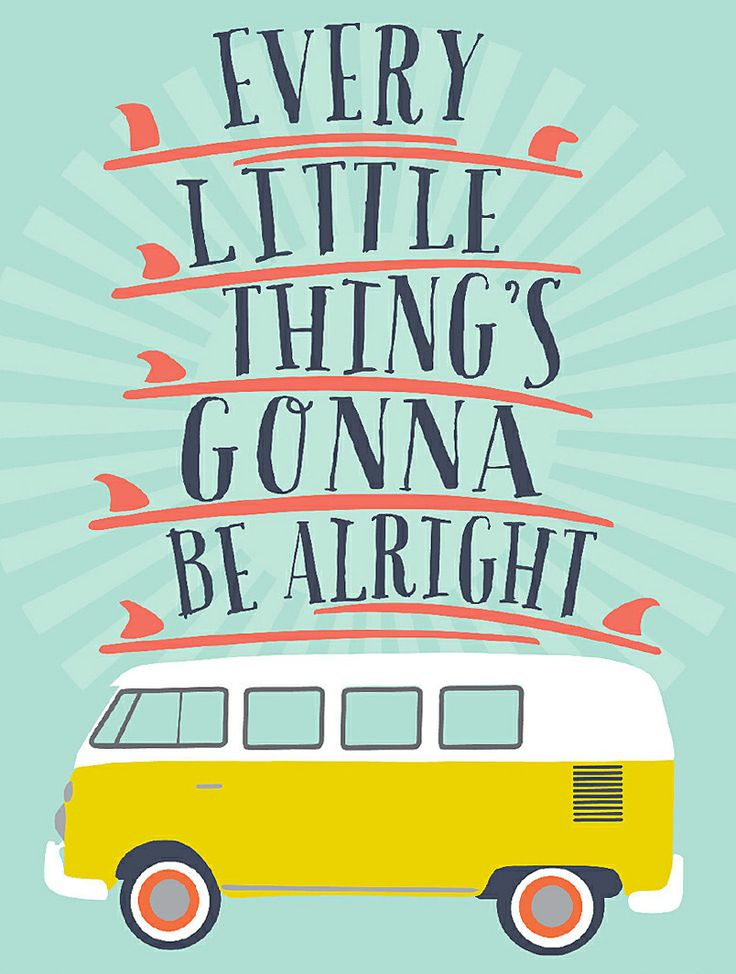 Every little things's gonna be alright // I love this print! (PS. I bought it for my hubby who's a huge Bob Marley fan! x)