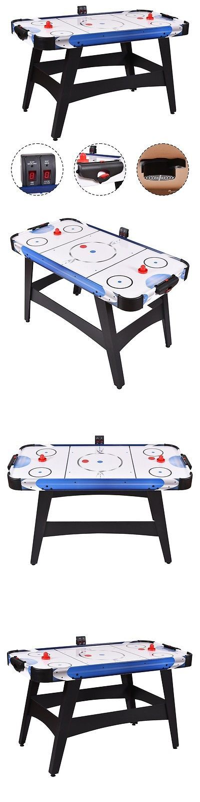 Air Hockey 36275: 54 Air Powered Hockey Table Indoor Sports Game Electronic Scoring For Kids Hot BUY IT NOW ONLY: $109.89