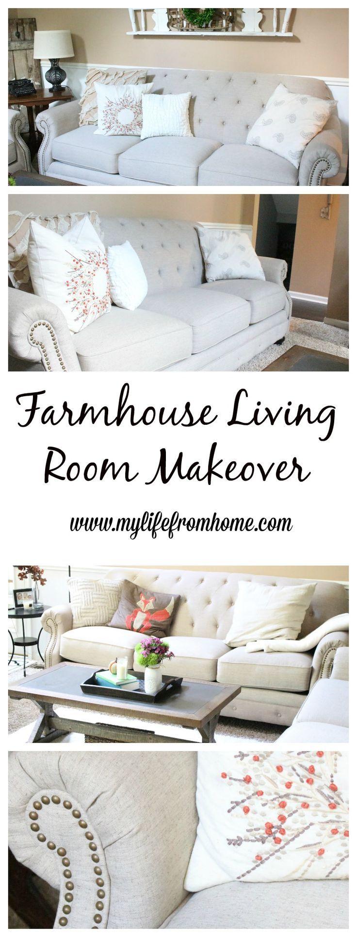 Hometalk diy christmas window decoration - A New Farmhouse Living Space Farmhouse Style Decor Couches Sofas Family