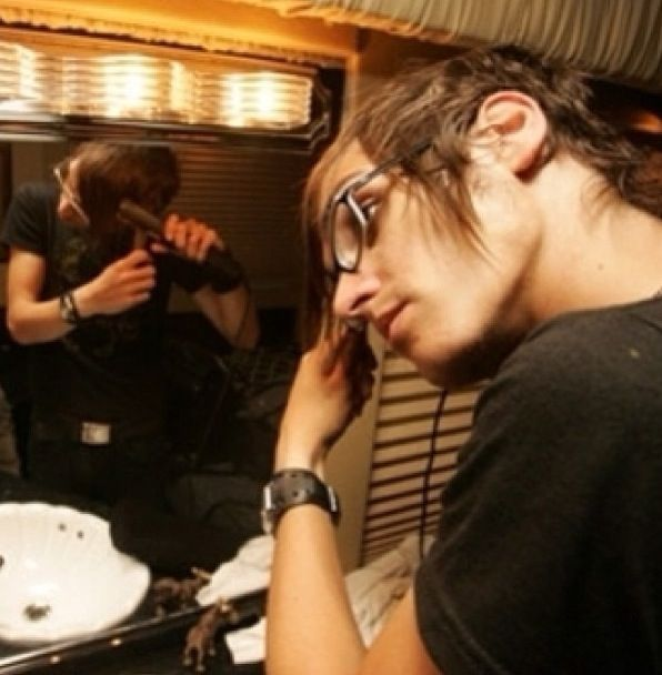 """""""Don't tape me straigtening my hair! It's creepy!"""" Mikey Way, My Chemical Romance, Life on the Murder Scene."""
