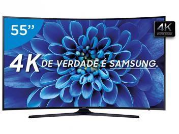 """Smart TV LED Curva 55"""" Samsung 4K/Ultra HD - 55KU6300 Conversor Digital Wi-Fi HDMI USB"""
