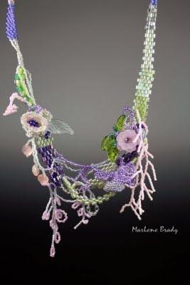 Marlene Brady free form peyote - Spring Necklace
