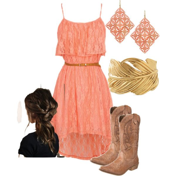 pink sundress, created by bellalee2000 on Polyvore