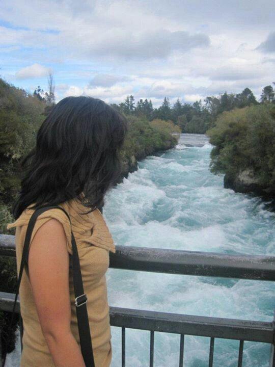 Ice-Blue, Snow-White, Hukka falls Taupo North Island NZ