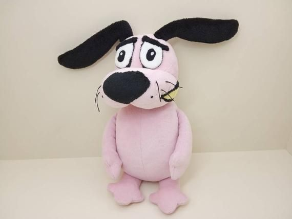 Courage The Cowardly Dog Plush Pink Stuffed Dog Plush Crochet