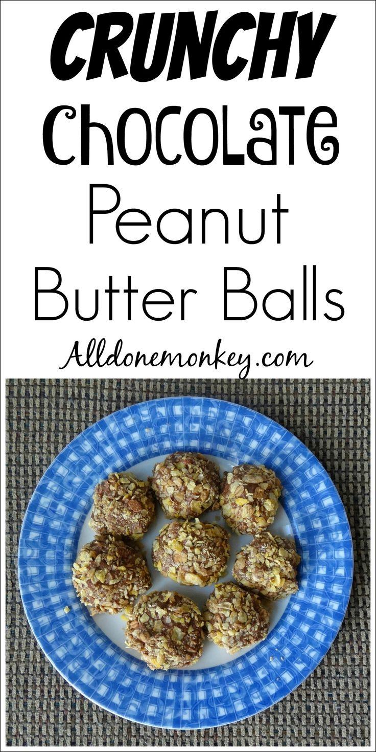 Crunchy Chocolate Peanut Butter Balls | Alldonemonkey.com #ad # ...