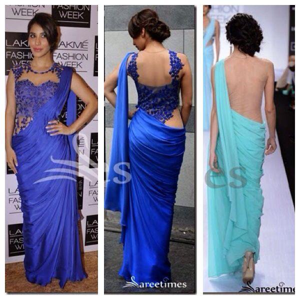 sonaakshi raaj saree gown <3