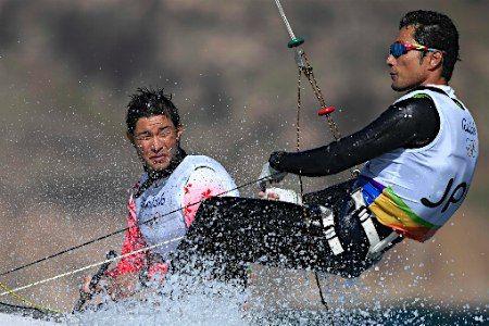 セーリングの土居、今村組 :フォトニュース - リオ五輪・パラリンピック 2016:時事ドットコム