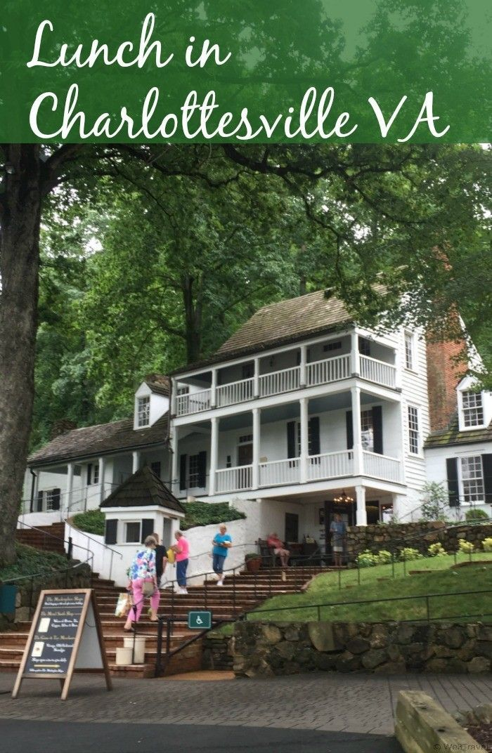 Lunch in Charlottesville VA -- If you are looking for a restaurant near Monticello, check out the historic Michie Tavern for a mid-day colonial feast and tour of this historic landmark.