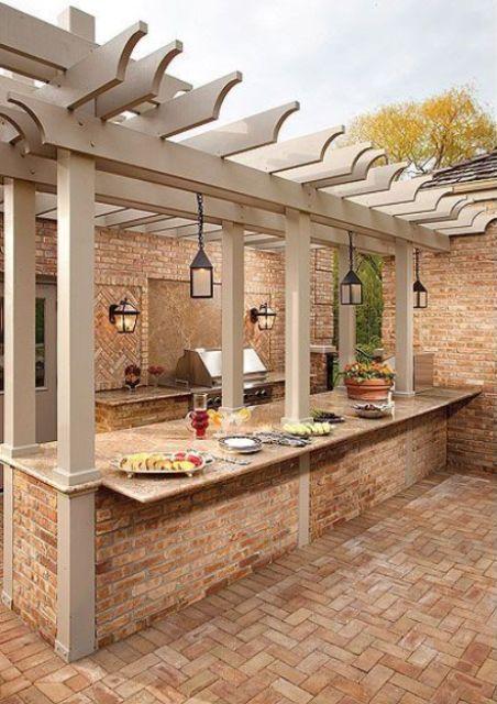 29 Cool Outdoor Barbeque Areas  #PinMyDreamBackyard