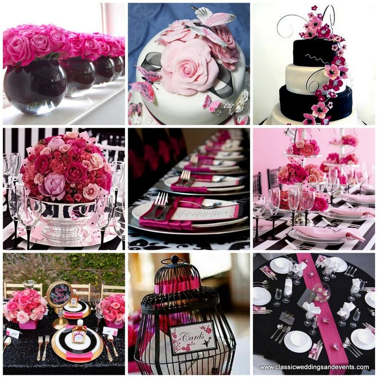 Clic Weddings And Events Pink Black Wedding Ideas