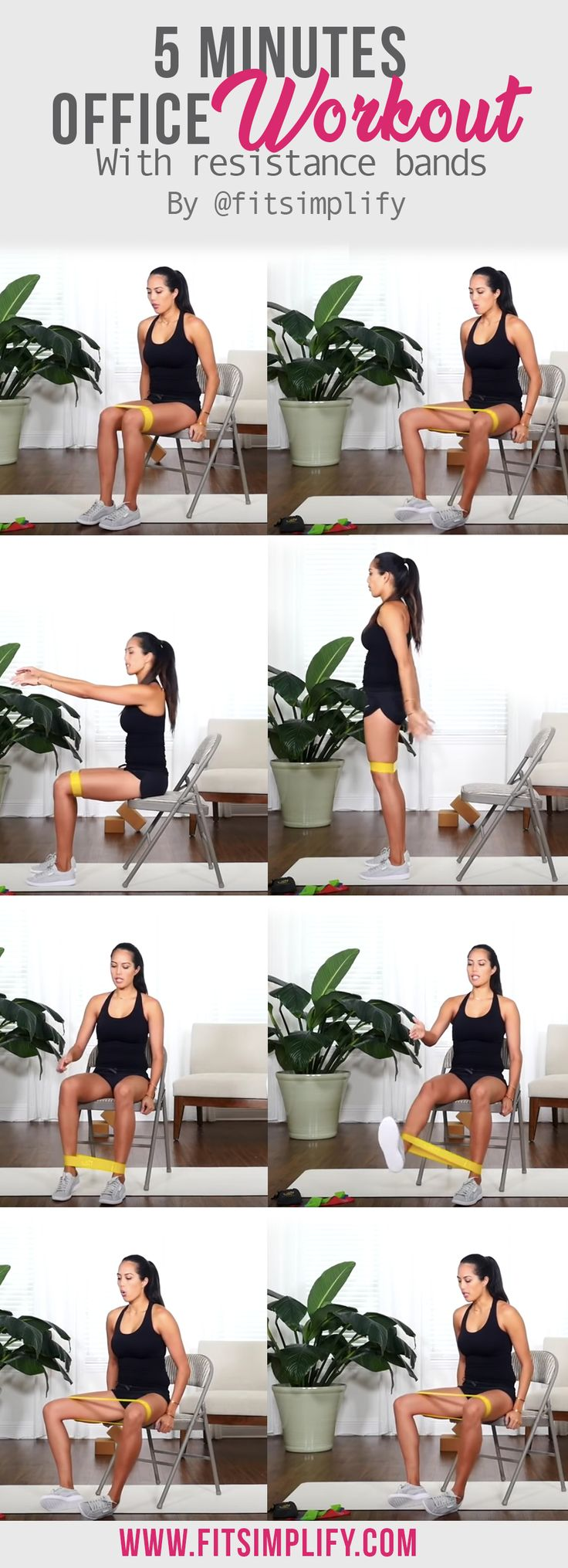 As part of our 9-5 workout series, here's a great little workout that you can try right in your office at any time, using resistance bands. To try this at work tomorrow, grab your band by simply clicking the pic.