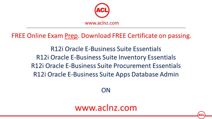 FREE Online Exams Prep on Oracle E-Business Suite release 12i. Link = http://aclnz.com/resources/certify#certification