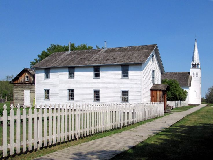 St Antoine de Padoue Church (1884) and its rectory were among the few buildings at Batoche National Historic Site in central Saskatchewan spared by Canadian troops during the Northwest Rebellion of 1885.