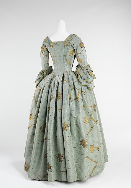 Robe à l'Anglaise (1770–75), made of silk and metal