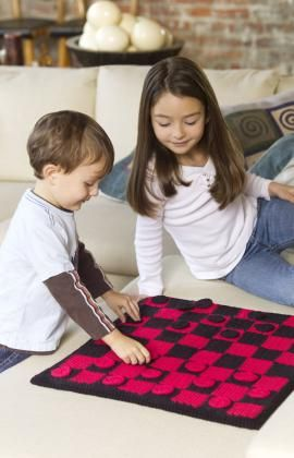 Best Free Crochet » Free Checkers Board Game Crochet Pattern from RedHeart.com #268 6/12/13