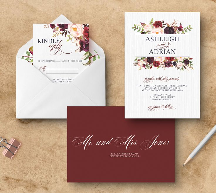 Addressed Wedding Invitations
