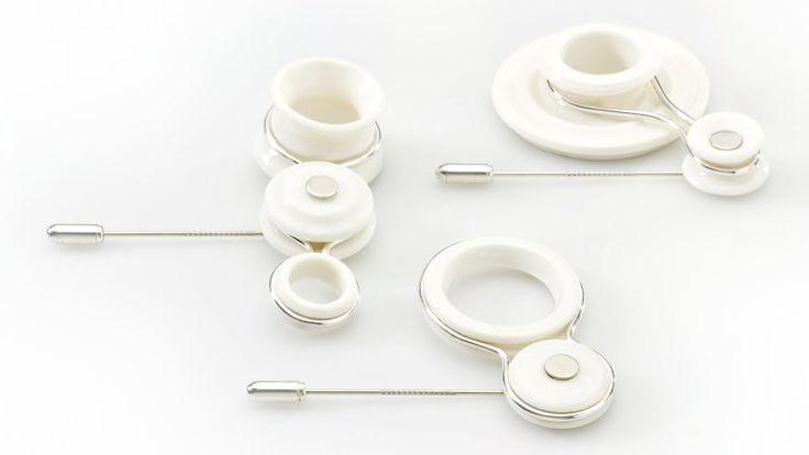 Una nuova frontiera della gioielleria in ceramica e argento