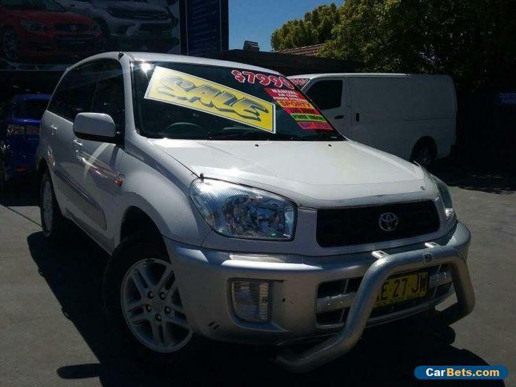 2003 Toyota RAV4 ACA21R Extreme White Manual 5sp M Wagon #toyota #rav4 #forsale #australia