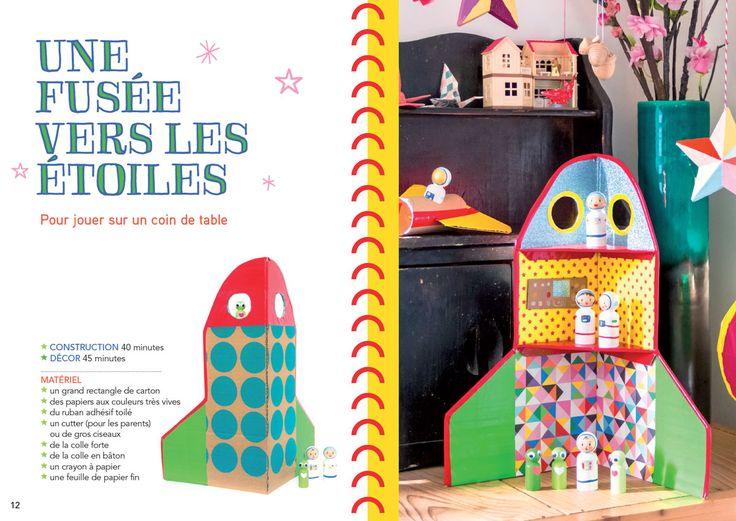DIY rocket in Tout en carton by Delphine Doreau
