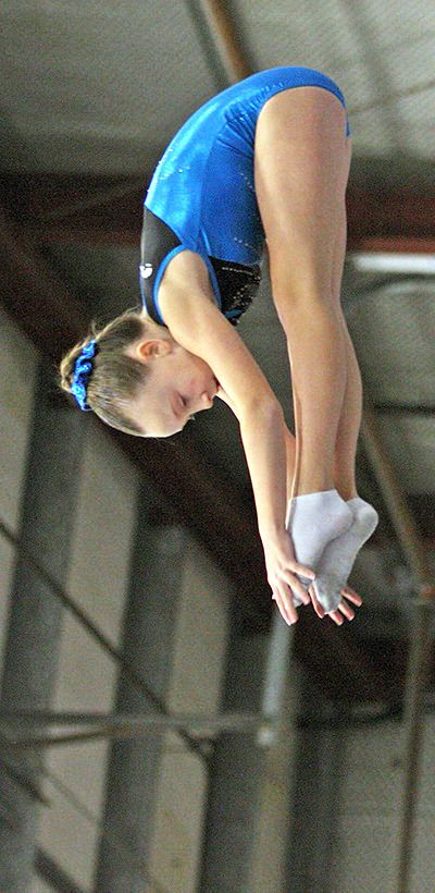 Jordan Beyer won a provincial championship in the trampoline competition. [Tri-City News]