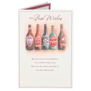 Bottle Of Ale Birthday Card