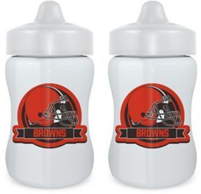 Baby Fanatic NFL Cleveland Browns 9 oz. Sippy Cups in Orange/Brown (Set of 2)
