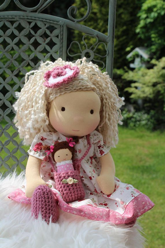 Waldorf doll 134 tall doll steiner doll organic