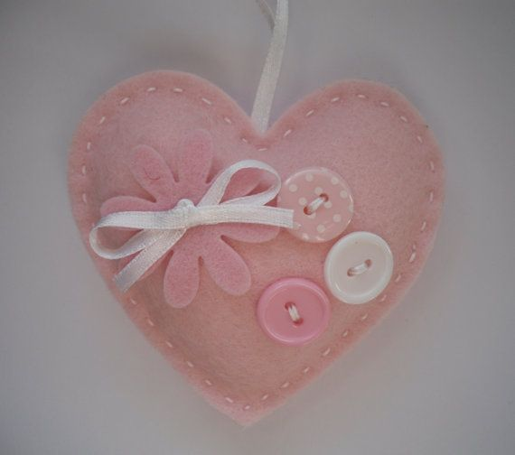 Hey, I found this really awesome Etsy listing at https://www.etsy.com/listing/175597728/baby-pink-felt-heart