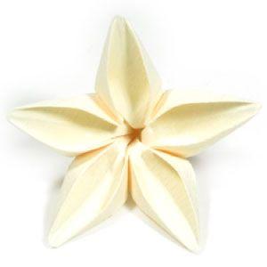 How to make an origami jasmine flower