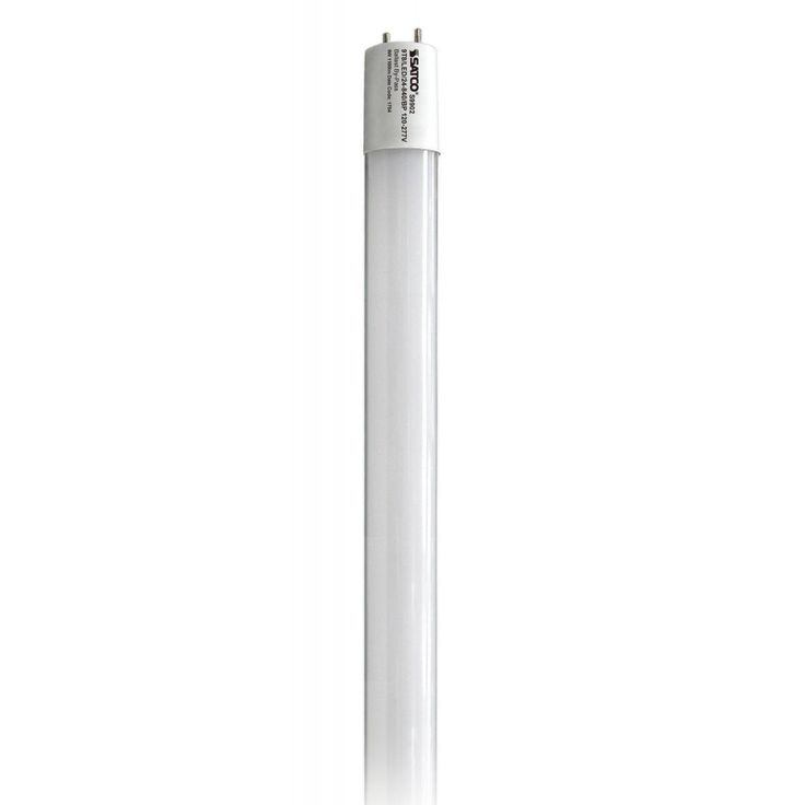 Satco 9W T8 LED - Medium Bi-Pin Base - 4000K - 1150 LM (Frosted), White (Glass)