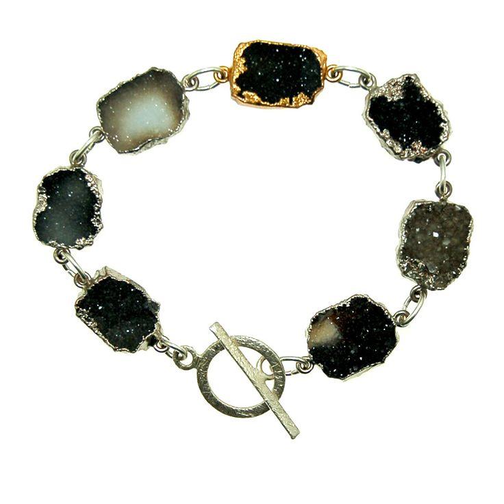 Druzy Bracelet (B391R) $210