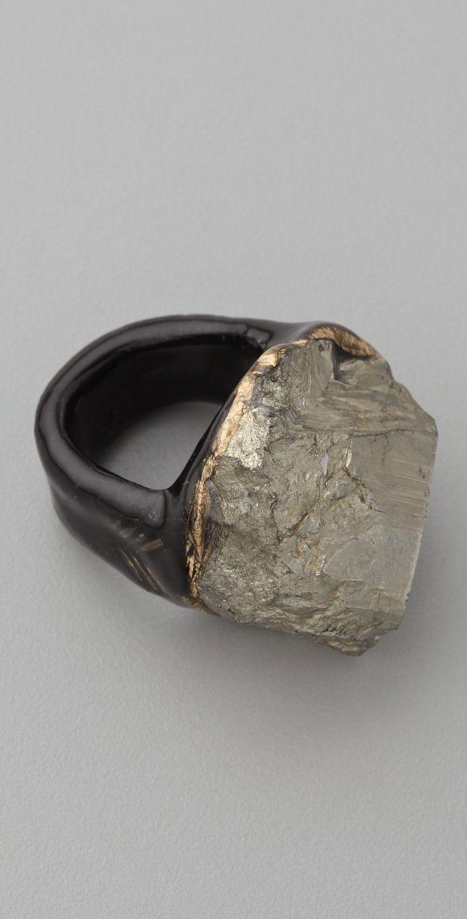 Adina Mills Design Pyrite Cluster Ring | SHOPBOP