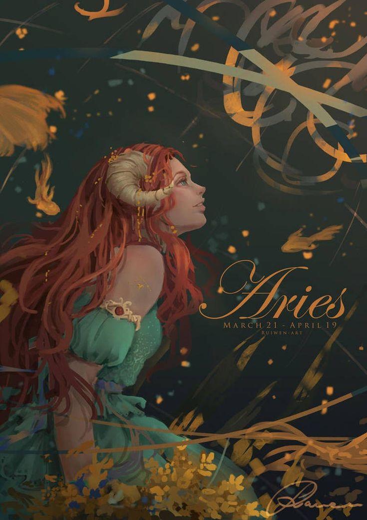 Pin by petty baddie on True Aries art, Art, Anime zodiac