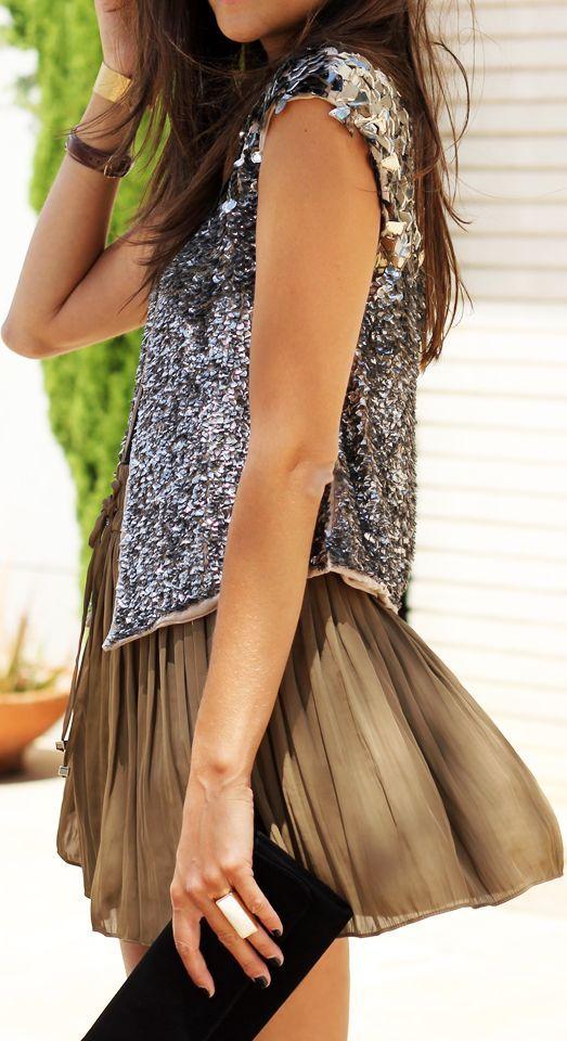 Zara Silver Women's Sequin Vest by Coohuco