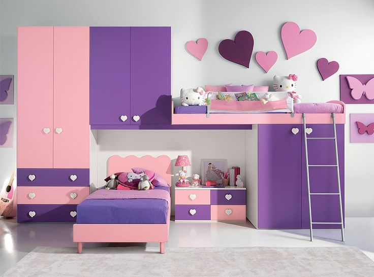 Modern Kids Bunk Bedroom Furniture Set VV G073 - $3,525.00