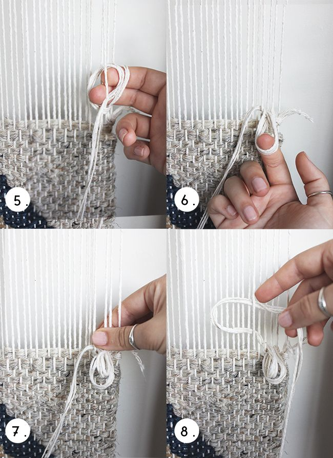 hello hydrangea: Weaving How To: Looped Rya -- could make into cool rug