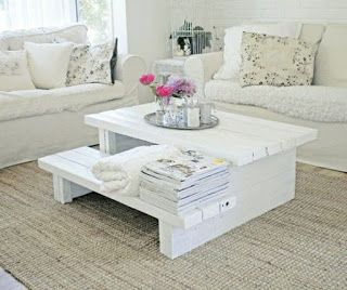 Tiered Coffee Table Made From Pallets