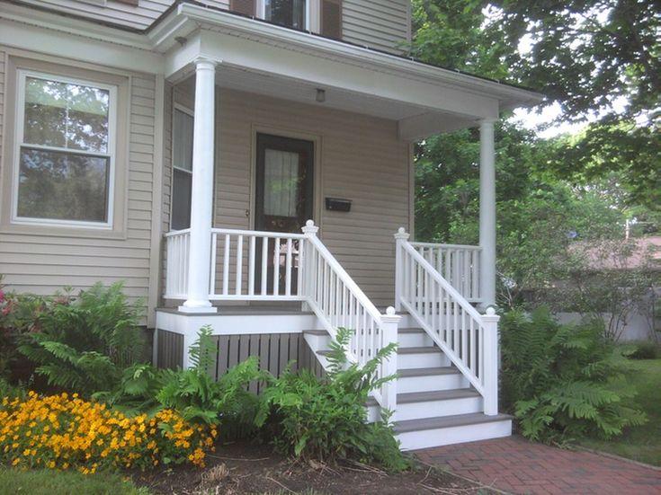 Wood Side Porch ~ Best front steps images on pinterest stoop