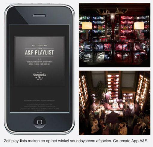 MUZIEK ALS SLIMME MARKETINGTOOL: Musicalmarketing.., steeds meer retailers zien in muziek een targetbaar middel om zich te onderscheiden. Zij investeren in eigen 'soundscapes', die direct in lijn liggen met de merk uitstraling. Dus naast de 'visual identity' is er nu dus ook sprake van een 'audio identity'....    Kijk op http://zomerinhuis.wordpress.com/2012/07/16/musicalmarketing/