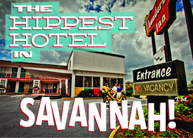 Can. Not. Wait!!! Thunderbird Inn, a  classic roadside motel, built in 1964, is within walking distance to Savannah's downtown historic district. The Hippest Little Hotel in Savannah.