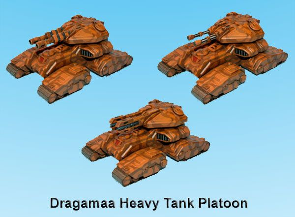 Kaamados Dominion Dragamaa Heavy Tank Platoon - Critical Mass Games