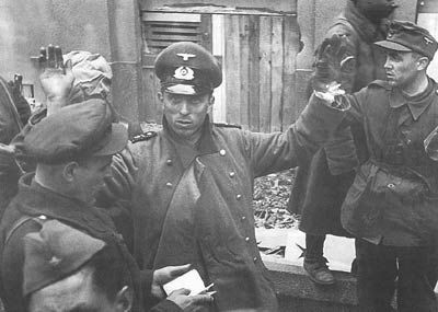 German troops captured by the Red Army after the surviving garrison's failed breakout attempt on the night of 11/12 February heralded the end of the Siege of Budapest. The remaining defenders finally surrendered on 13 February 1945.