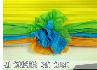 Tissue Paper Border - A Tutorial   Great Idea but I think I would use plastic table cloths...more for your $$