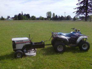 tow behind ATV mower