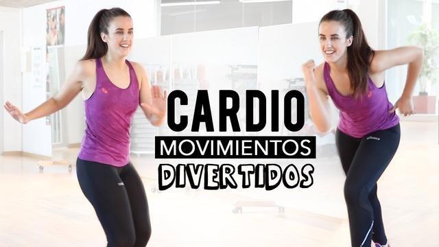Aprenda a sequência de exercícios de cardio com movimentos engraçados, pratique.