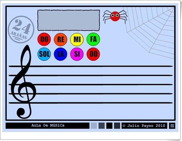 """""""24 arañas"""" (Iniciación a las notas musicales en el pentagrama)"""