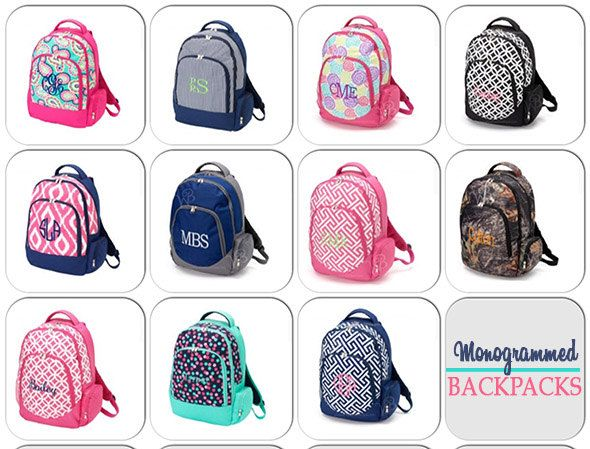 Personalized Backpack – Large Monogrammed Backpack- Durable Monogrammed Backpack – Backpack Personalized FREE