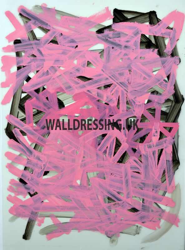 www.walldressing.co.uk, charlie cobb, artwork, clearance free, film, tv, abstract, painting, acrylic, pink
