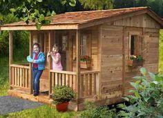 playhouse designs | DIY Designs - Kids Pallet Playhouse Plans | Wooden Pallet Furniture